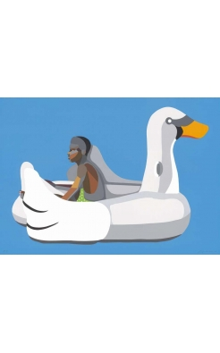 Derrick Adams, Boy on Swan Float, 2020