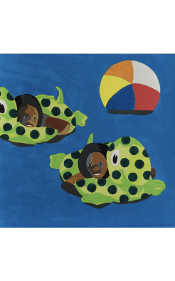 Derrick Adams, Turtle Floats, 2017