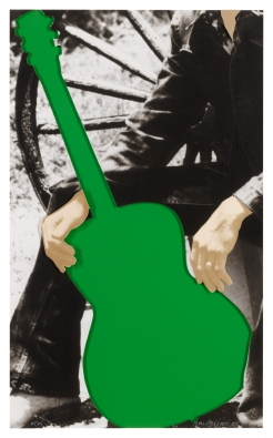 John Baldessari, Person with Green Guitar, 2005