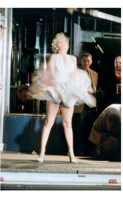 "Elliott Erwitt, Marilyn Monroe on the Set of ""The Seven Year Itch"", 1954"