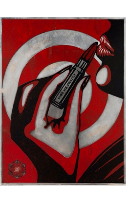 Shepard Fairey, Kiss Me Deadly, 2012