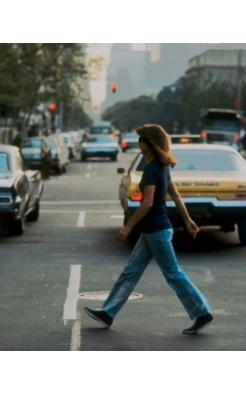Ron Galella, Jackie Onassis Crossing 5th Avenue After One of Her Usual Walks