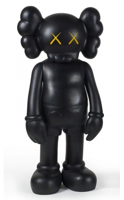 Kaws, 4 Foot Companion (Black), 2007