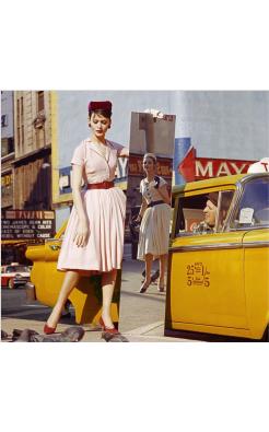 Anne + Isabella + Mirror + Taxi, Broadway & 46th Street, New York
