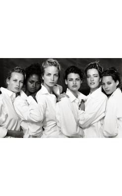 Peter Lindbergh, Estelle Lefébure, Karen Alexander, Rachel Williams, Linda Evangelist, Tatjana Patitz, Christy Turlington, Santa Monica, California, 1988