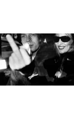 Ron Galella, Mick Jagger and Jerry Hall