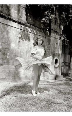 Ormond Gigli, Sophia Loren, Twirling Skire, Rome, 1955