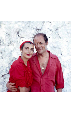 Ormond Gigli, Rex Harrison and wife Kay Kendall at Blue Harbor, Jamaica