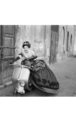 Ormond Gigli, Ball Gown on Vespa
