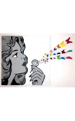 Rich Simmons, Rainbow Blow My Mind Butterflies, 2018