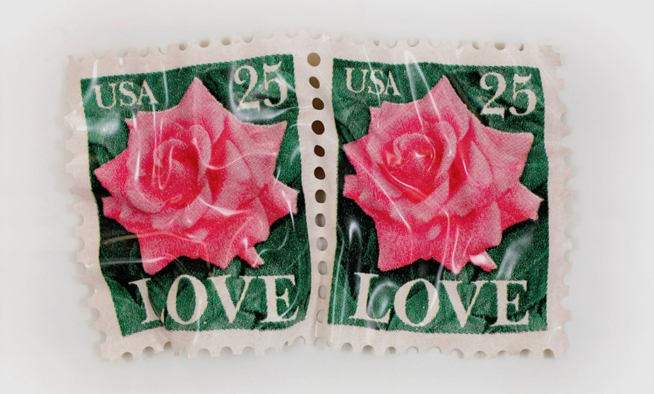 Paul Rousso, Two Rose Love Stamps, 2018
