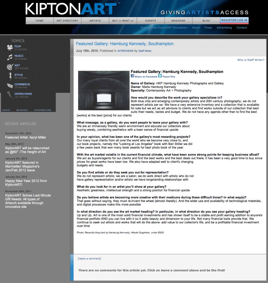 Kipton Art Features Hamburg Kennedy Southampton