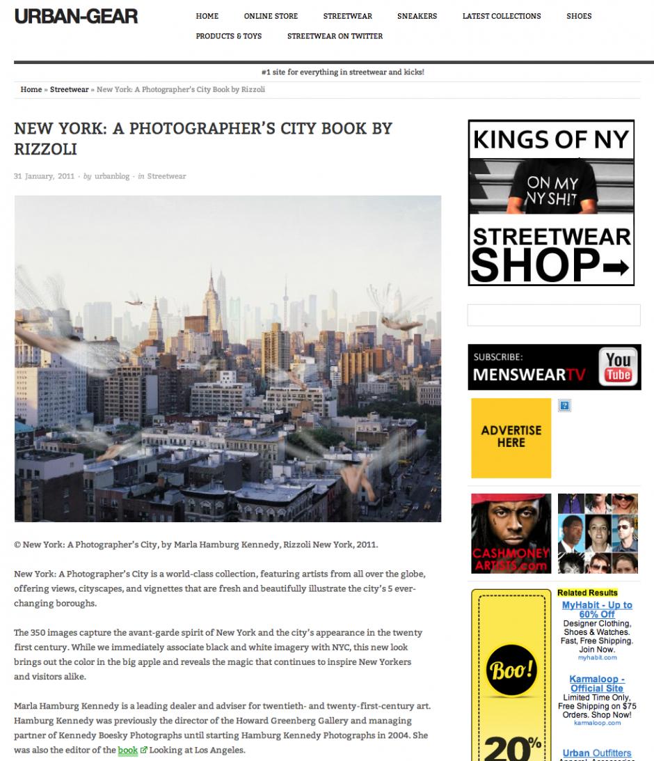Urban-Gear:  New York, A Photographer's City