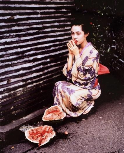 Nobuyoshi Araki, Geisha Girl with Watermelon, from the series 'Akt-Tokyo'