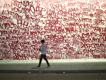 Barry McGee, Houston and Bowery Mural, 2010