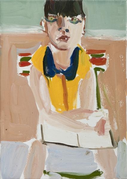 Chantal Joffe, Woman in Yellow Shirt