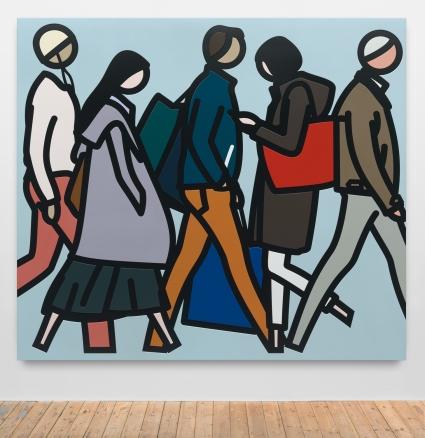 Julian Opie, People Walking
