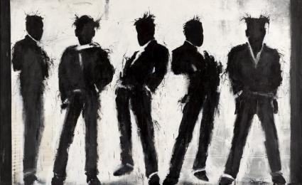 Richard Hambleton, Five Shadow Figures, 2003