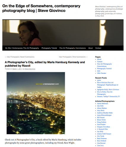On the Edge of Somewhere, Contemporary Photography Blog