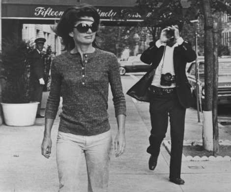 Ron Galella, Jackie Kennedy and Ron Galella