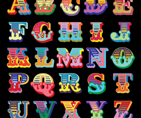 Ben Eine, Circus Alphabet, 2017