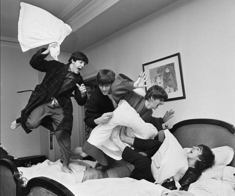 Harry Benson, Beatles Pillow Fight, Paris, 1964