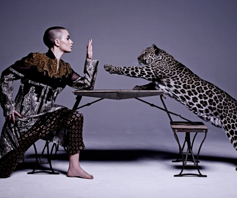 Michel Comte, Woman with Leopard
