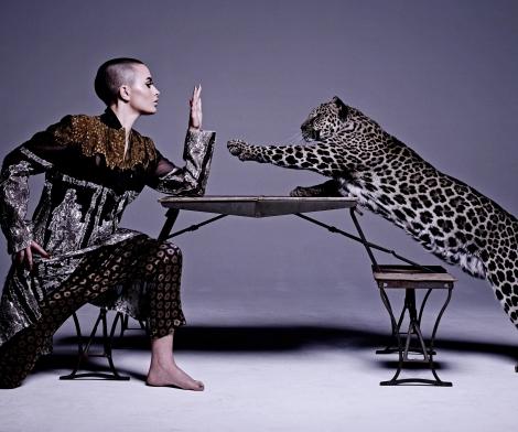 Michel Comte, Woman with Leopard