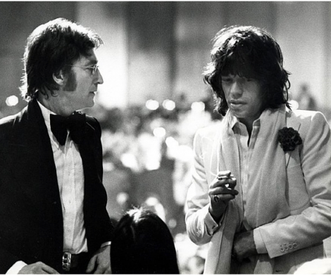 Ron Galella, John Lennon and Mick Jagger