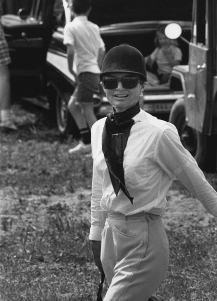 Ron Galella, Jackie Kennedy, in Riding Clothes