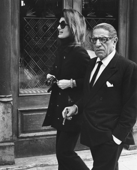 Ron Galella, Jackie Kennedy and Ari Onassis