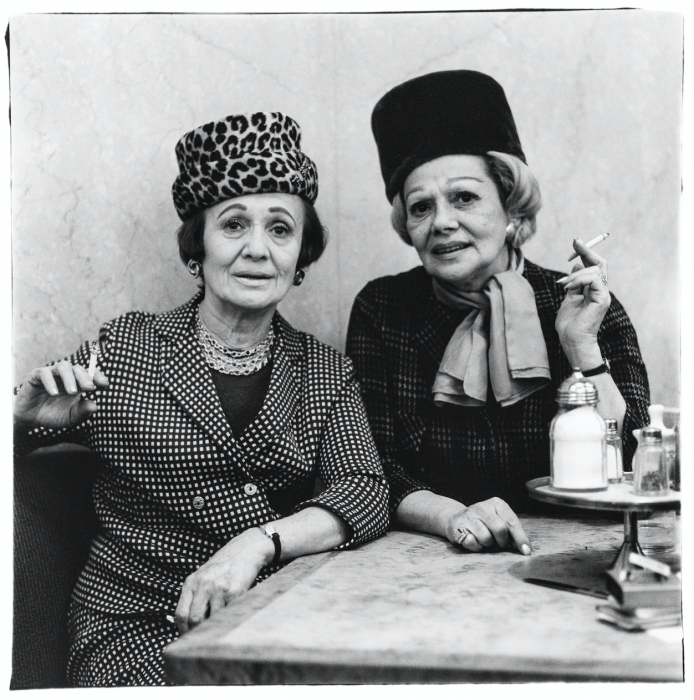 Diane Arbus, Two Ladies at the Automat, NYC, 1966