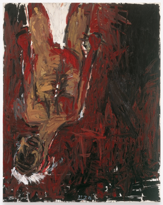 Georg Baselitz, Red Man Upsidedown