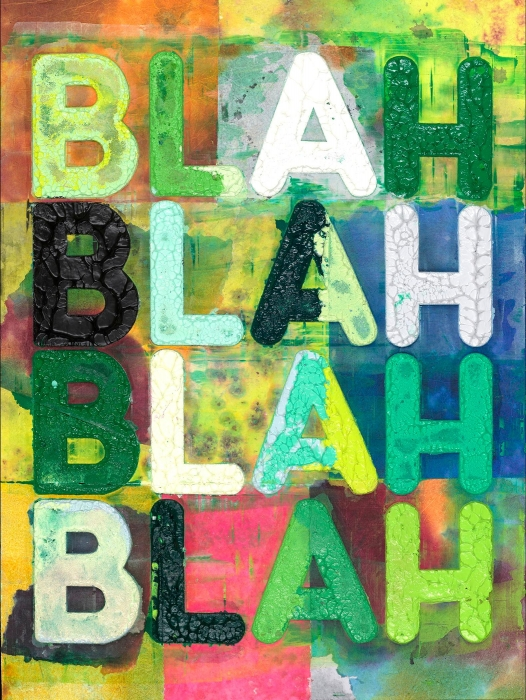 Mel Bochner, Green Blah Blah Blah