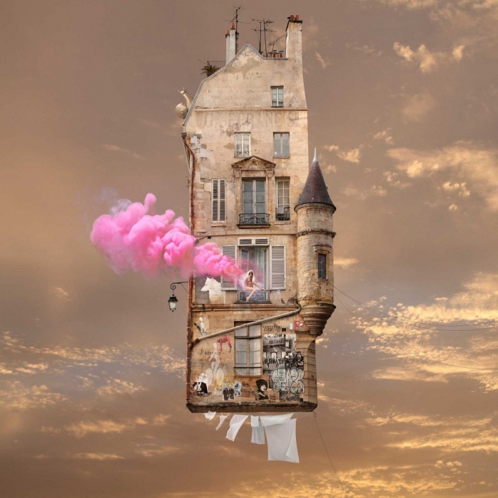 Laurent Chehère, Flying Houses Pink