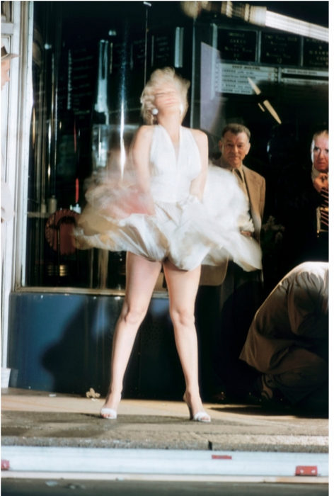 "Elliott Erwitt, Marilyn Monroe on the Set of ""The Seven Year Itch"", 1954"