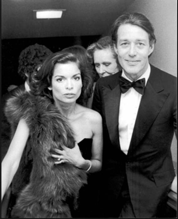 Ron Galella, Bianca Jagger and Halston