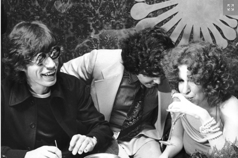 Ron Galella, Mick Jagger, Aaron Russo, and Bette Midler