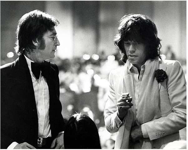 Ron Galella, John Lennon and Mick Jagger