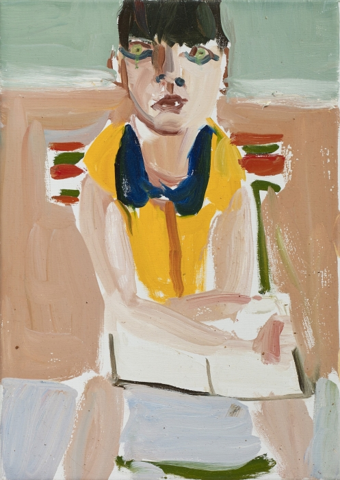 Chantal Joffe, Woman in Yellow Shirt