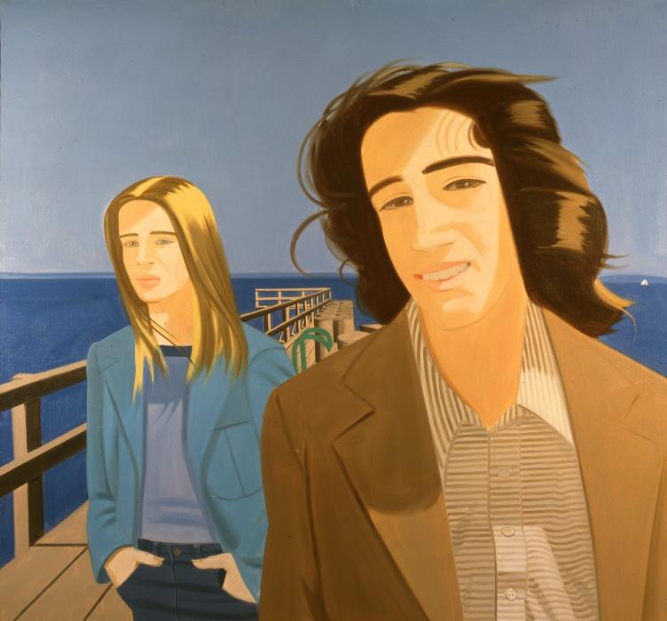Alex Katz, Couple on a Pier