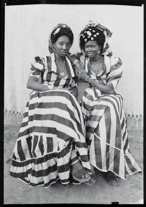 Sedou Keita, Two Women in Striped Dresses