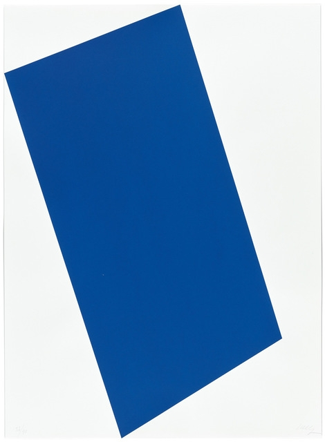 Ellsworth Kelly, Blue, 1997