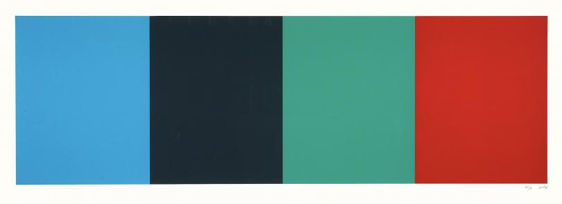 Ellsworth Kelly, Blue Gray Green Red, 2008