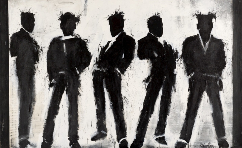 Richard Hambleton, Five Shadow Figures, 2003