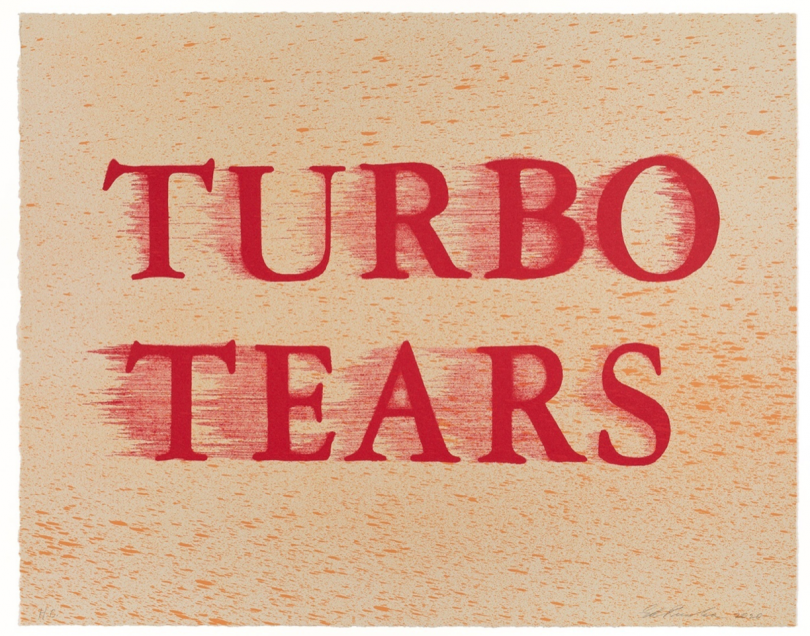 Ed Ruscha, Turbo Tears, 2020-21