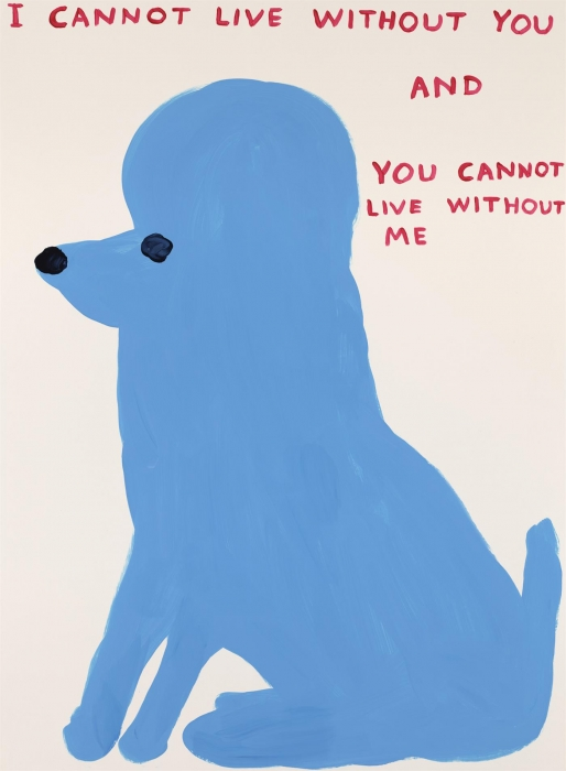 David Shrigley, I Cannot Live Without You, 2019