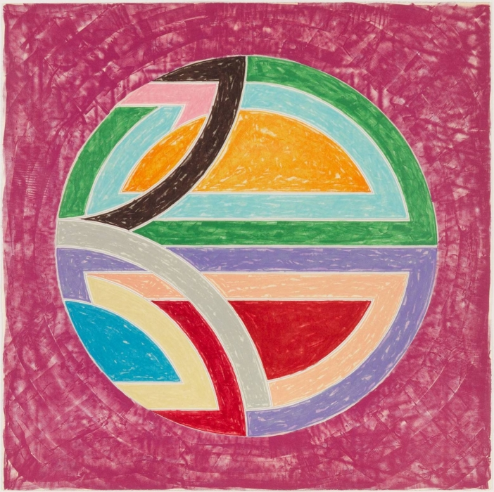 Frank Stella, Sinjerli Variation Squared with Colored Ground I, 1981
